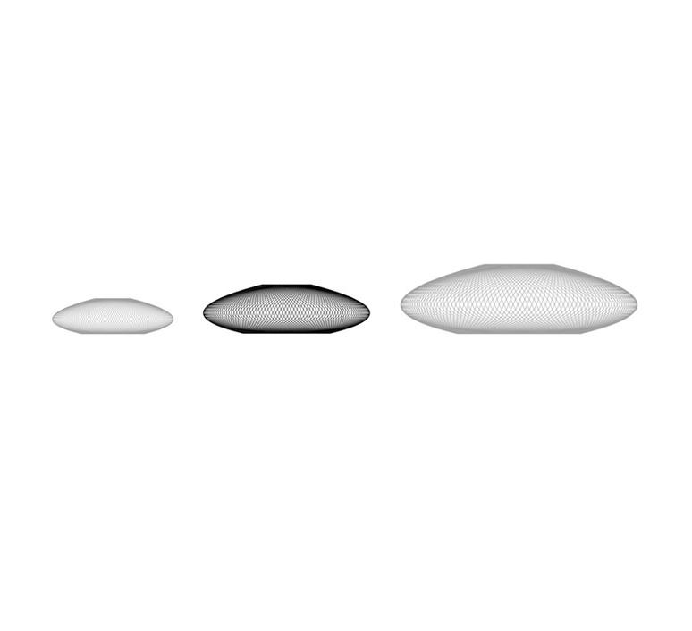 Iridescent black medium  suspension pendant light  atelier robotiq iridescentblack medium  design signed 43022 product
