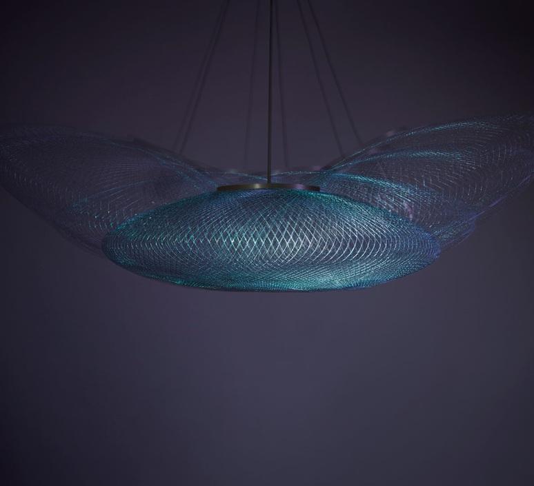 Iridescent black medium  suspension pendant light  atelier robotiq iridescentblack medium  design signed 43025 product