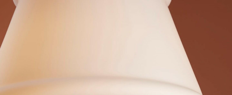 Suspension ivette blanc ambre led o51cm h31 5cm fabbian normal