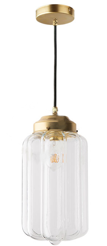 Suspension j adore l or light 130 go 002 laiton transparent o16cm h36cm zangra normal