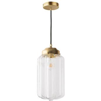 Suspension j adore l or light 130 go 002 laiton transparent o16cm h36cm zangra normal