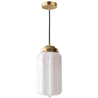 Suspension j adore l or light129 go 002 laiton verre opalin o16cm h36cm zangra normal