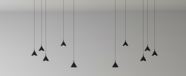 Suspension jewel mono noir led 2700k 671lm o9cm h9cm axo light normal