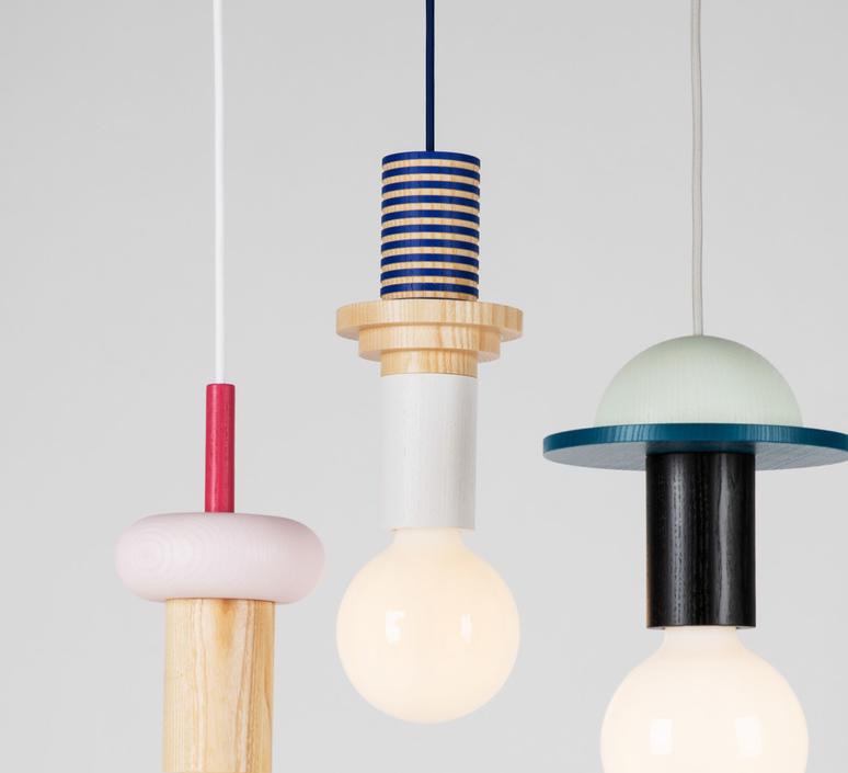 Junit column julia mulling et niklas jessen schneid column blue luminaire lighting design signed 24964 product