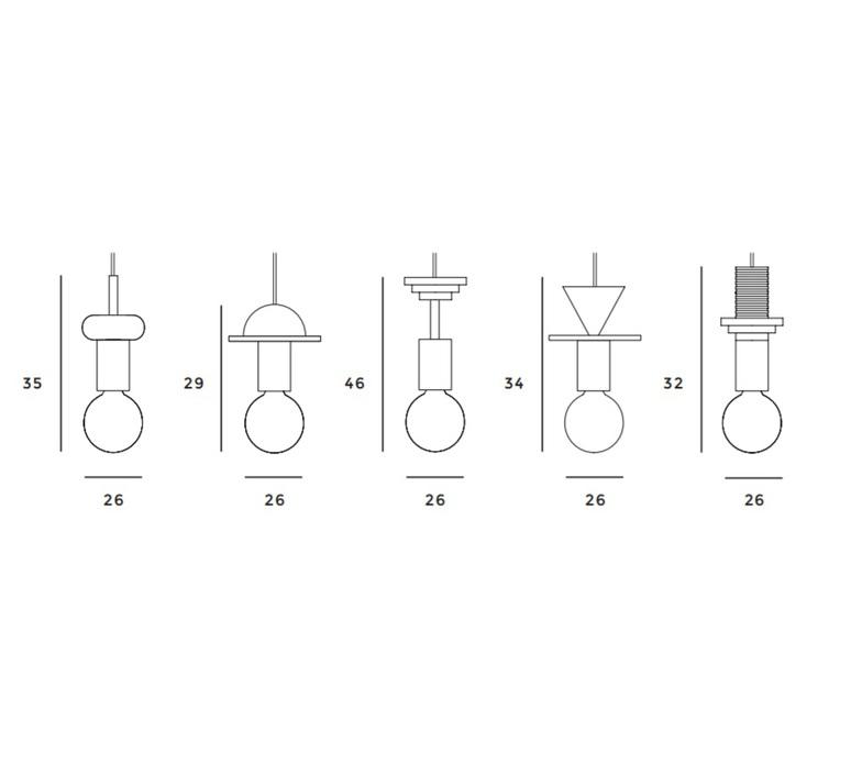 Junit column julia mulling et niklas jessen schneid column blue luminaire lighting design signed 28527 product