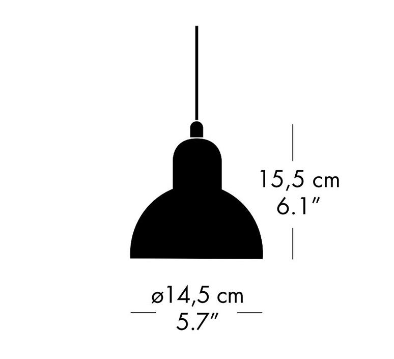 Kaiser idell 6722 p christian dell suspension pendant light  fritz hansen 94721908  design signed nedgis 112720 product
