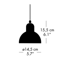 Kaiser idell 6722 p christian dell suspension pendant light  fritz hansen 94721908  design signed nedgis 112720 thumb