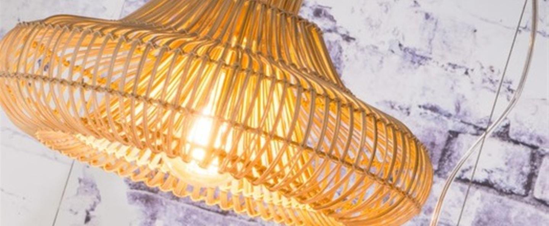 Suspension kalahari wicker single natural s bois marron o45cm h30cm good modjo normal