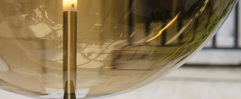 Suspension kandinsky marron o30cm h80cm pholc normal