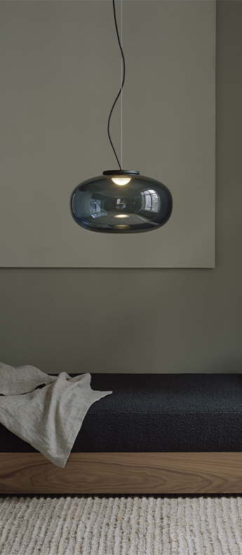 Suspension karl johan large gris fume led 2700k o40cm h24cm newworks normal