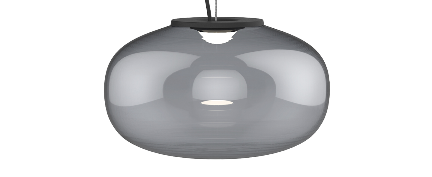 Suspension karl johan small gris fume led 2700k o23cm h14cm newworks normal