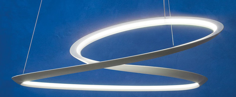 Suspension kepler directe blanc led 3000k 4500lm o110cm h38cm nemo lighting normal