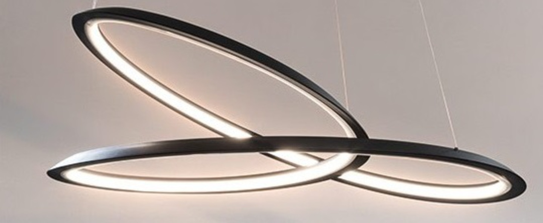 Suspension kepler directe noir led 3000k 4500lm o110cm h38cm nemo lighting normal