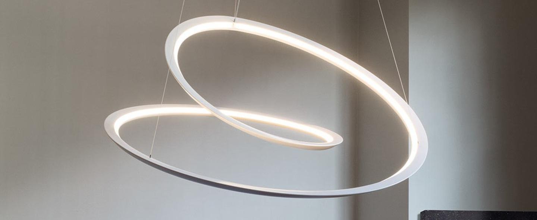 Suspension kepler indirecte blanc led 2700k 4500lm o110cm h38cm nemo lighting normal