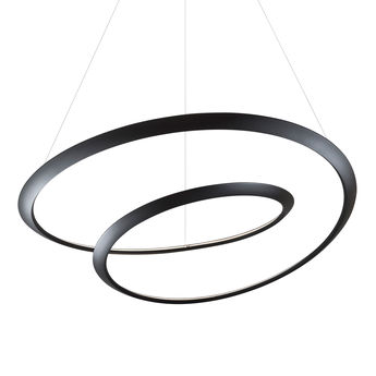 Suspension kepler indirecte noir led 3000k 4500lm o110cm h38cm nemo lighting normal