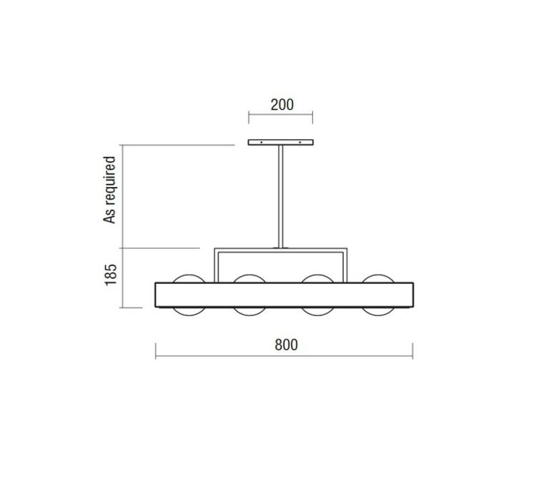 Kernel  suspension pendant light  bert frank kernel pendant lamp black  design signed 35989 product