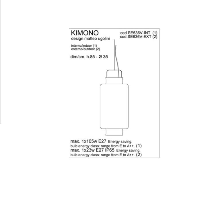 Kimono matteo ugolini karman se636v ext luminaire lighting design signed 20002 product