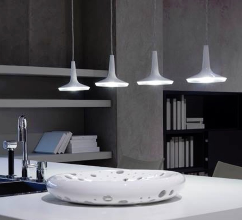 Kin francesco rota oluce 478 blanc luminaire lighting design signed 22581 product