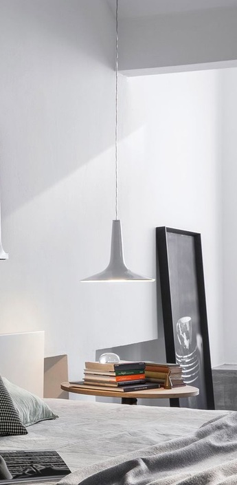 Suspension kin led blanc o30cm oluce normal