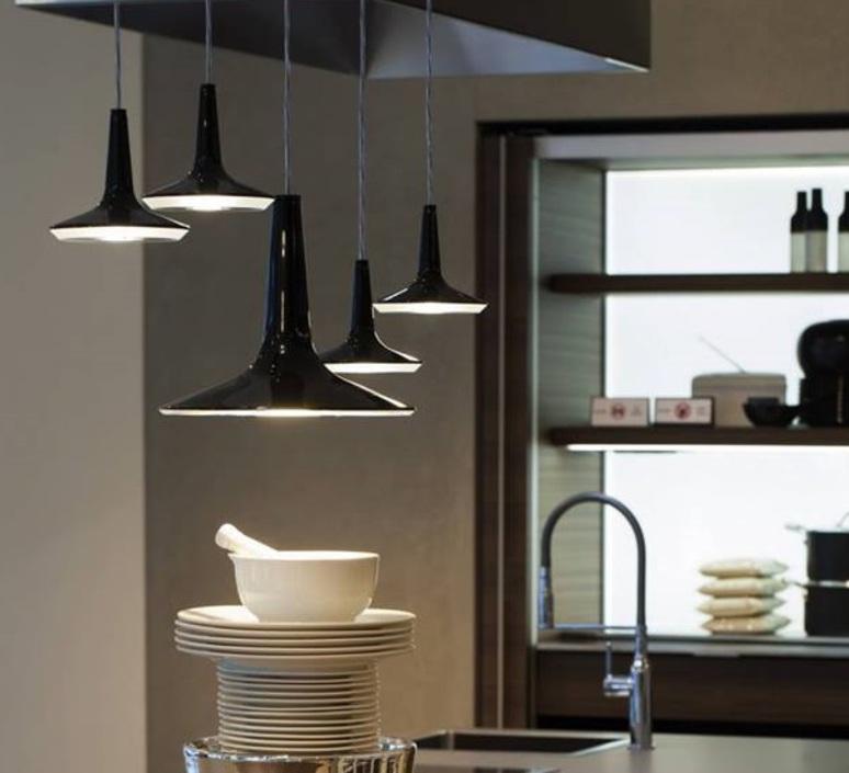 Kin francesco rota oluce 478 noir luminaire lighting design signed 22588 product