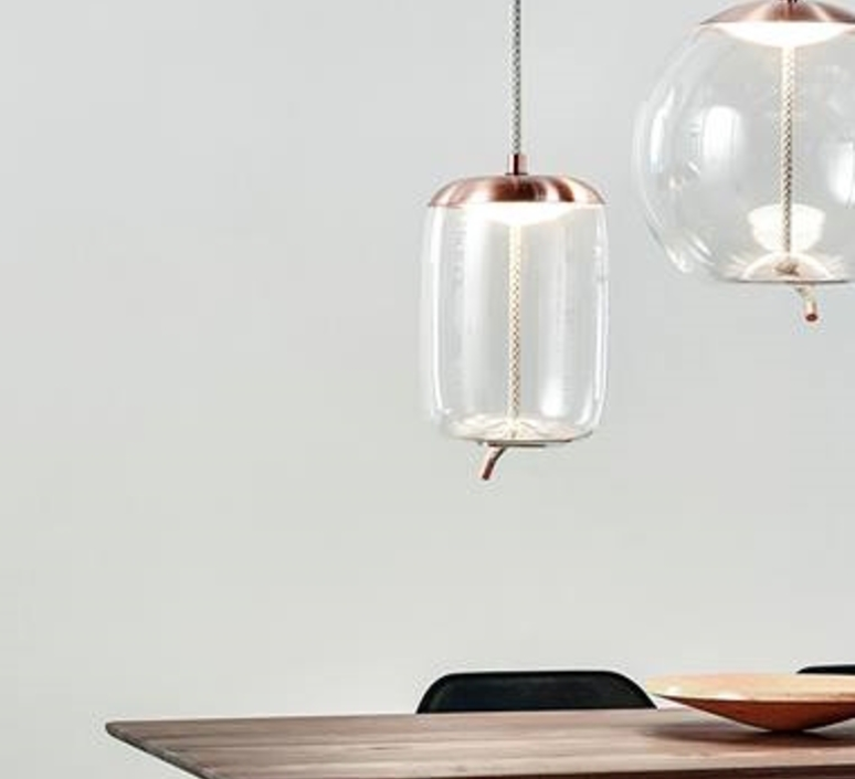 Pendant light knot cilindro transparent copper h467cm brokis knot cilindro chiaramonte marin suspension pendant light brokis pc1019cgc23ccs584ccsc896 design signed 33213 product aloadofball Choice Image