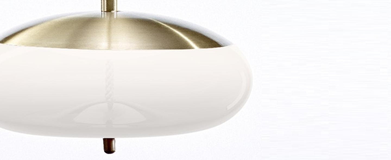 Suspension knot disco laiton blanc o50cm brokis normal