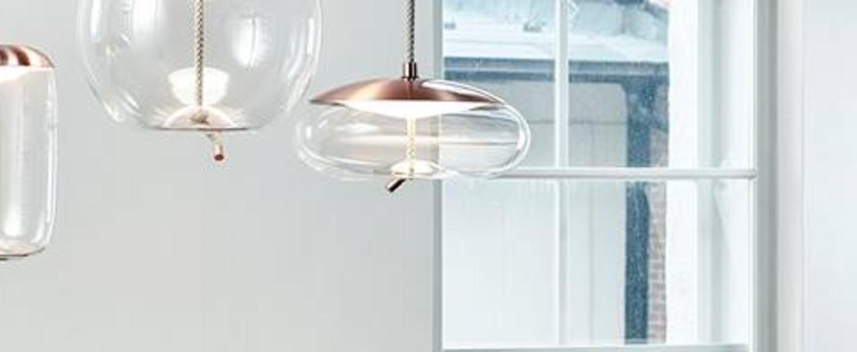 Suspension knot disco transparent cuivre o50cm brokis normal