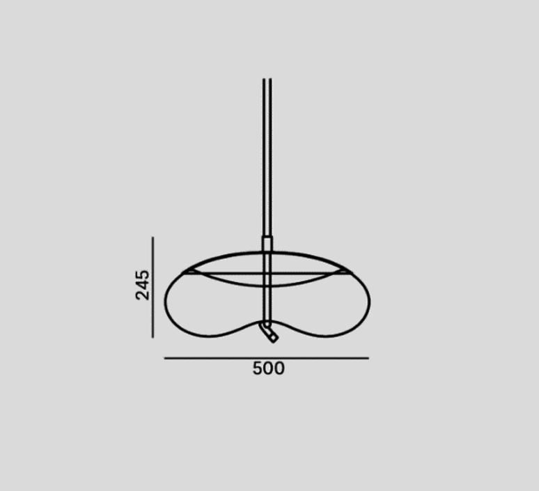 Knot disco chiaramonte marin suspension pendant light  brokis pc1017cgc23ccs69ccsc897  design signed 33225 product
