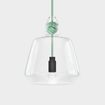Suspension knot large verre menthe o19 5cm h22 4cm vitamin normal