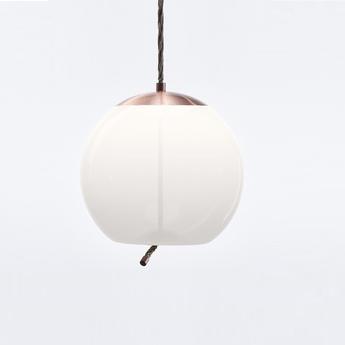 Suspension knot sfera cuivre blanc o50cm brokis normal