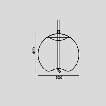 Suspension knot sfera transparent or h59cm o50cm brokis normal