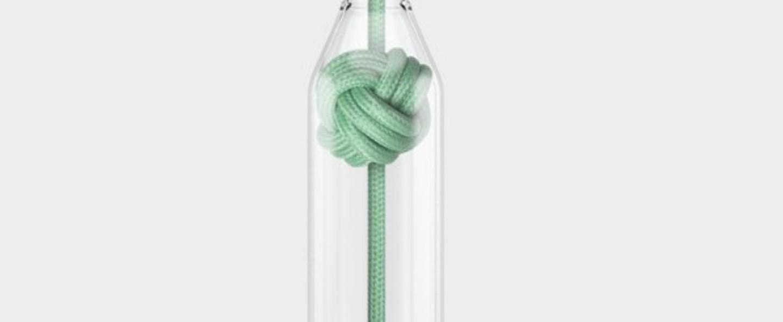 Suspension knot small verre menthe o14cm h22 4cm vitamin normal