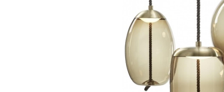 Suspension knot uovo marron laiton h49cm brokis normal