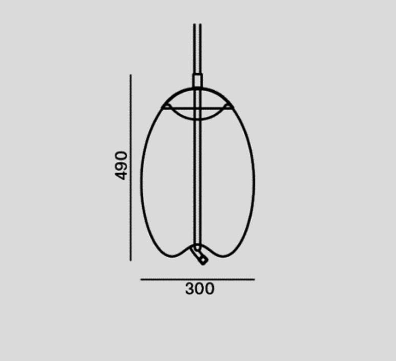 Knot uovo chiaramonte marin suspension pendant light  brokis pc1018cgc538ccs69ccsc897  design signed 108431 product