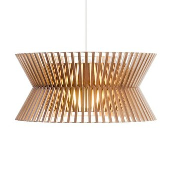 Suspension kontro 6000 bois marron led o45cm h21cm secto design normal