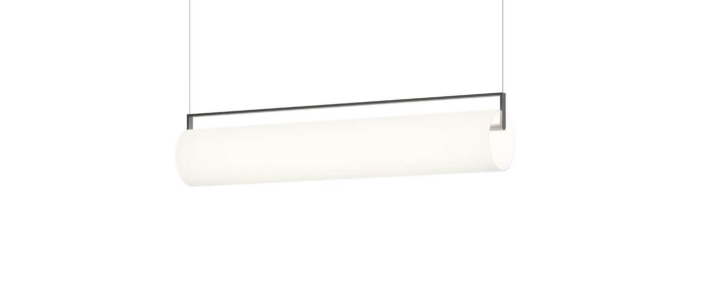 Suspension kontur 6476 blanc et noir led 2700k 2907lm o16cm h122cm vibia normal