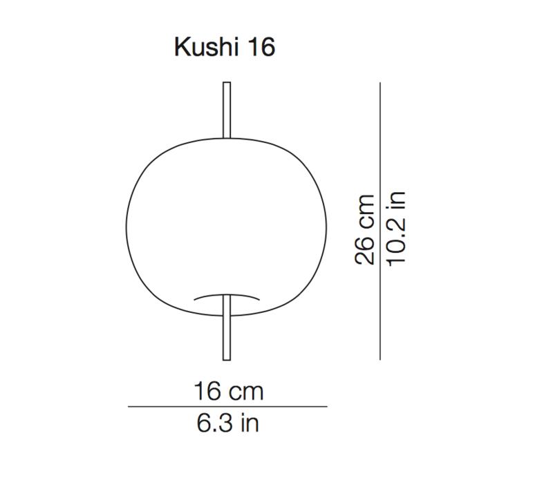 Kushi 16 alberto saggia et valero sommela suspension pendant light  kundalini k2261059r  design signed 38717 product