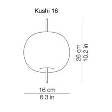 Kushi 16 alberto saggia et valero sommela suspension pendant light  kundalini k2261059r  design signed 38717 thumb