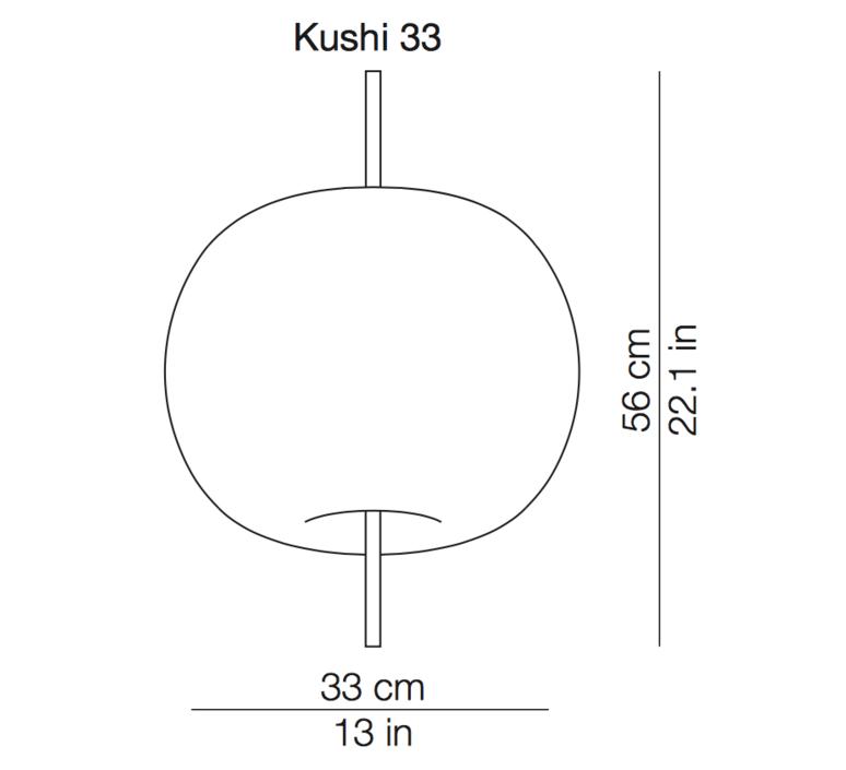 Kushi 33 alberto saggia et valero sommela suspension pendant light  kundalini k221105r  design signed 38721 product