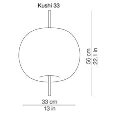 Kushi 33 alberto saggia et valero sommela suspension pendant light  kundalini k221105r  design signed 38721 thumb