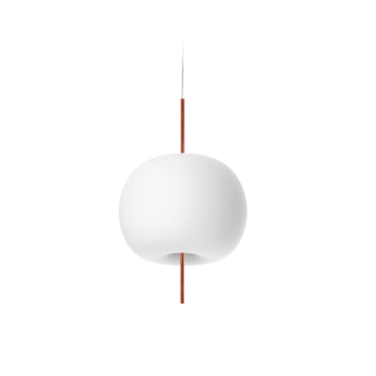 Suspension kushi 33 blanc et cuivre o33cm h56cm kundalini normal