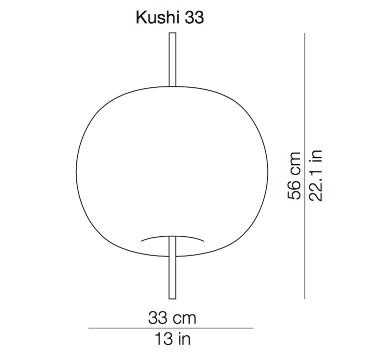 Kushi 33 alberto saggia et valero sommela suspension pendant light  kundalini k221105n  design signed 38726 product