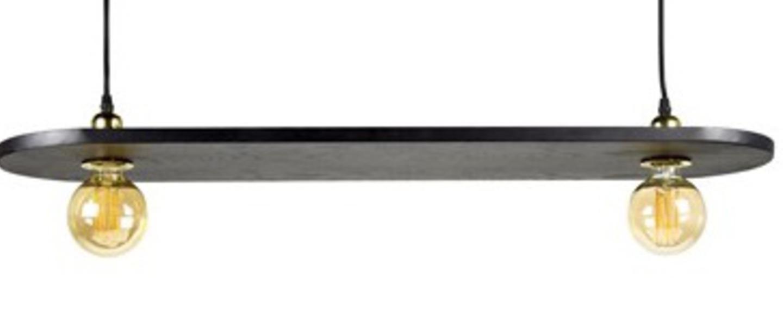 Suspension kvg 16 02 bois noir l90cm h25cm serax normal