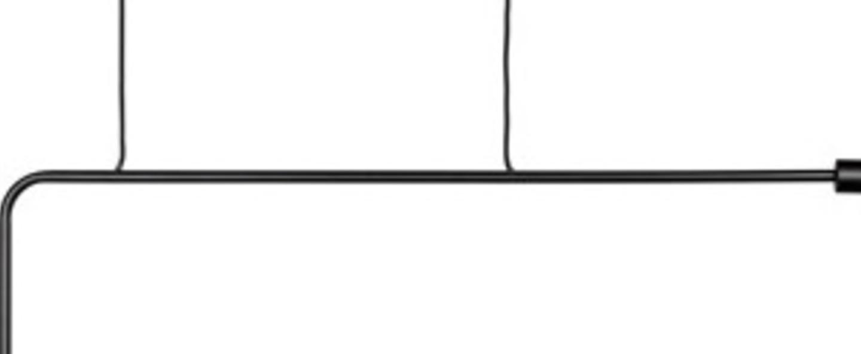 Suspension kvg 18 01 noir l110cm h55cm serax normal