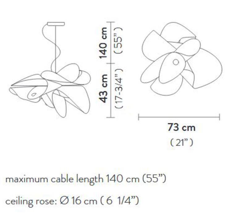 La belle etoile l  suspension pendant light  slamp et078sos0001w 000  design signed 66198 product