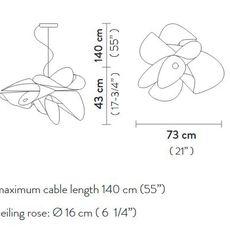La belle etoile l  suspension pendant light  slamp et078sos0001w 000  design signed 66198 thumb