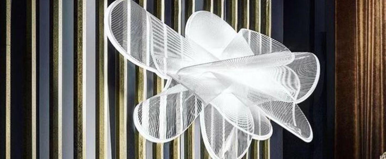 Suspension la belle etoile s blanc led o90cm h55cm slamp normal