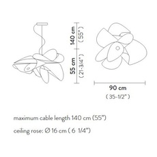 La belle etoile s  suspension pendant light  slamp et078sos0003w 000  design signed 66196 thumb