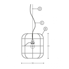 La cage  stefan schoning suspension pendant light  dark 600 101 005 01 03  design signed nedgis 69469 thumb