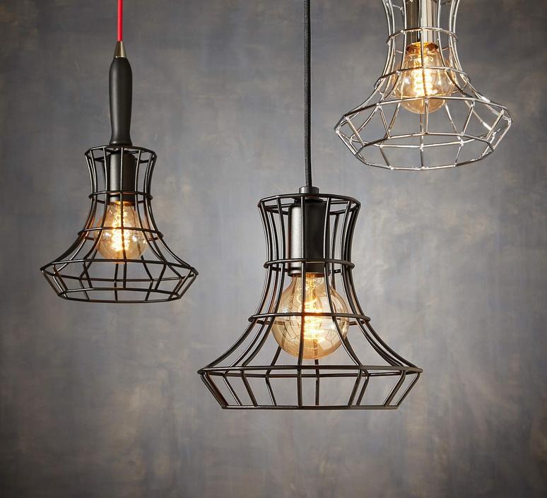 Lady cage massimo rosati zava lady cage suspension h25cm noir 9005 cable black rayon luminaire lighting design signed 17421 product